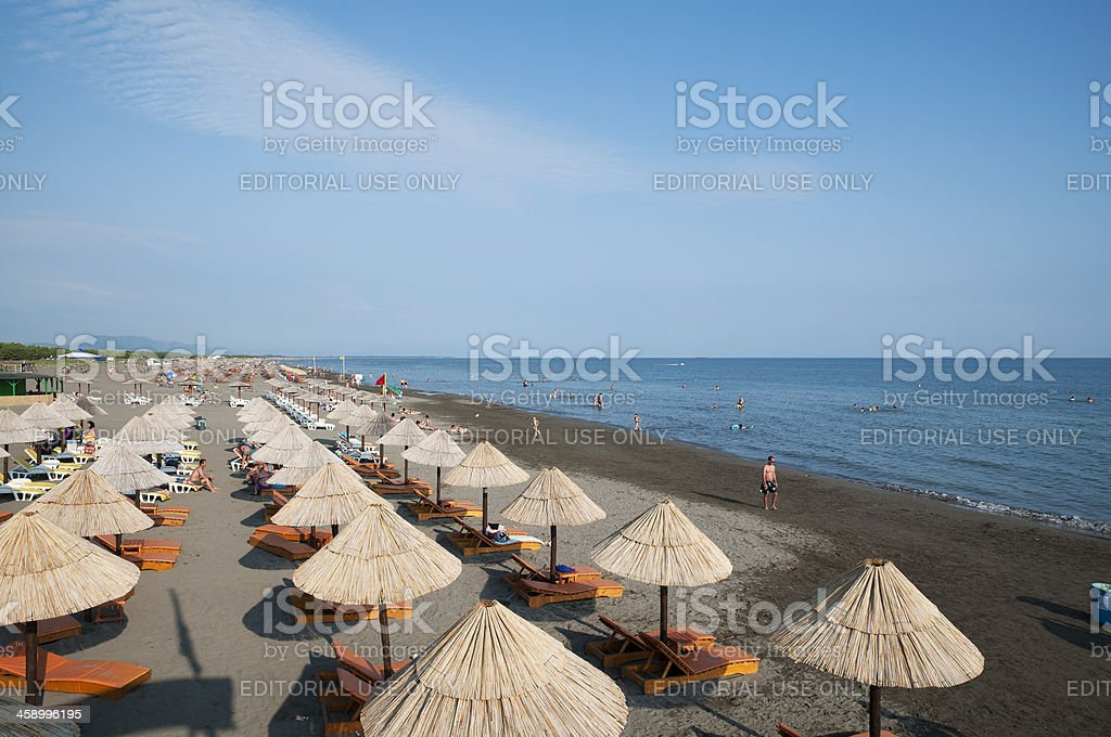 Long Beach in Ulcinj, Montenegro stock photo