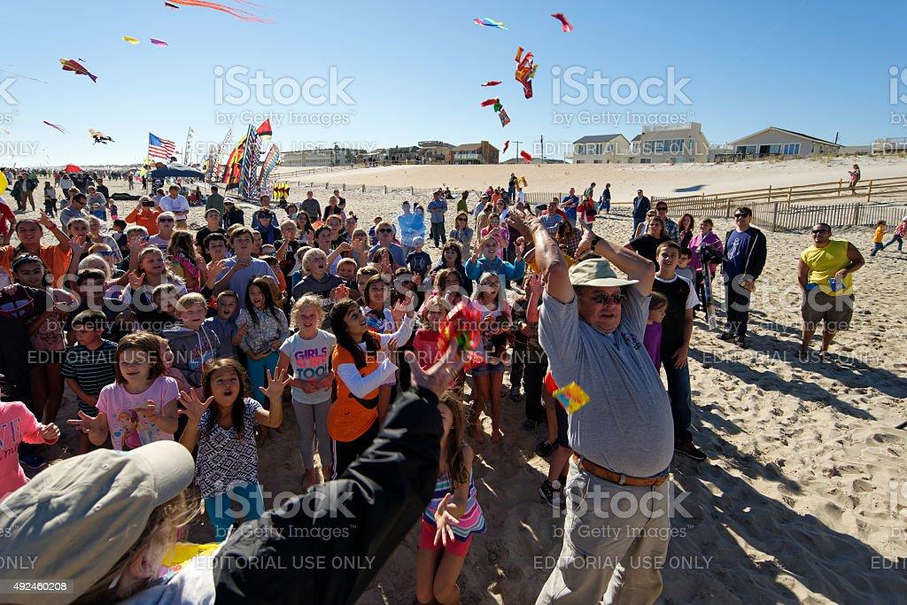 Long Beach Island Kite Festival 2015 stock photo