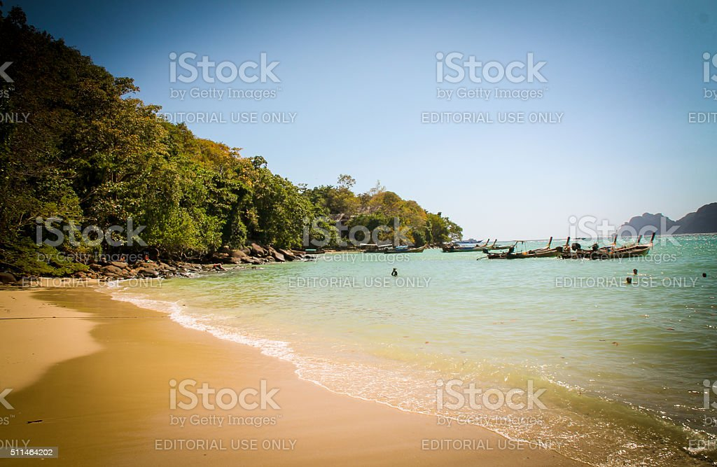 De Long Plage, Ko Phi Phi photo libre de droits
