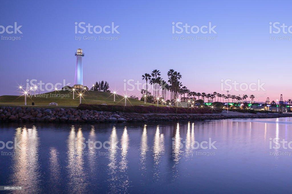 Long Beach Nightview, 2016 Стоковые фото Стоковая фотография
