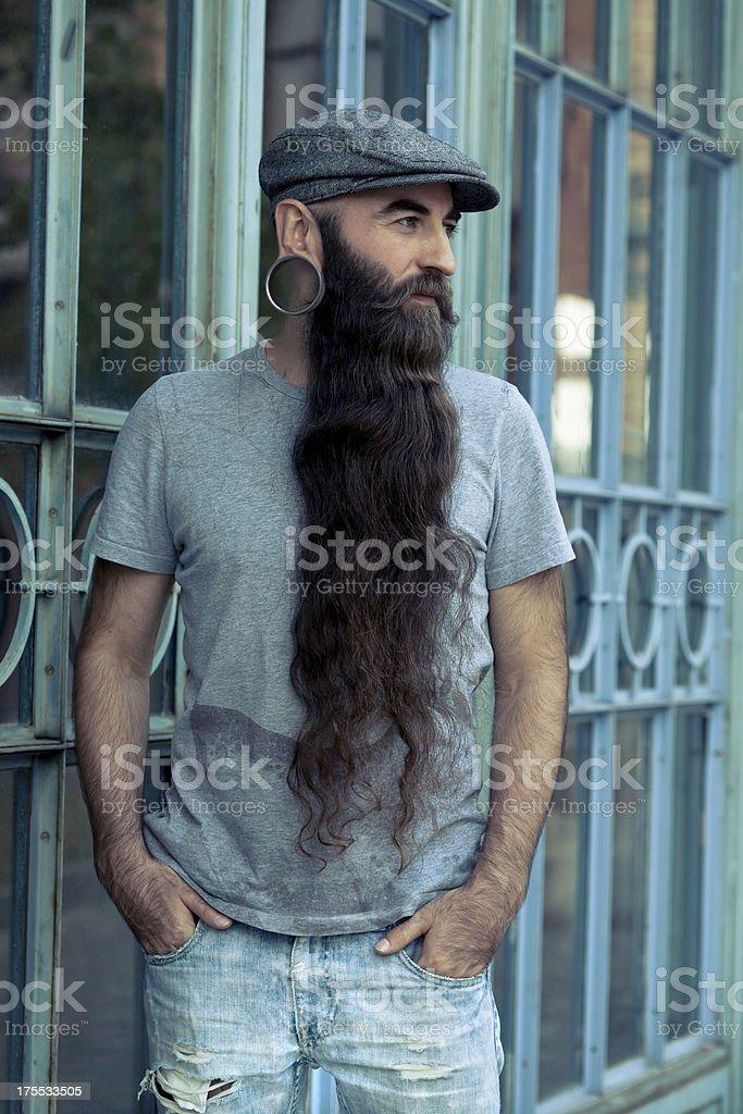 Long bearded men royalty-free stock photo