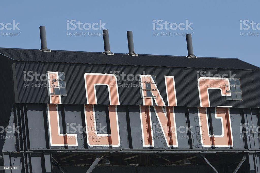 Long Black Steel Building stock photo