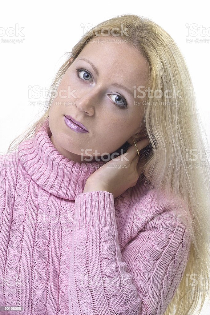 Long blond hair stock photo