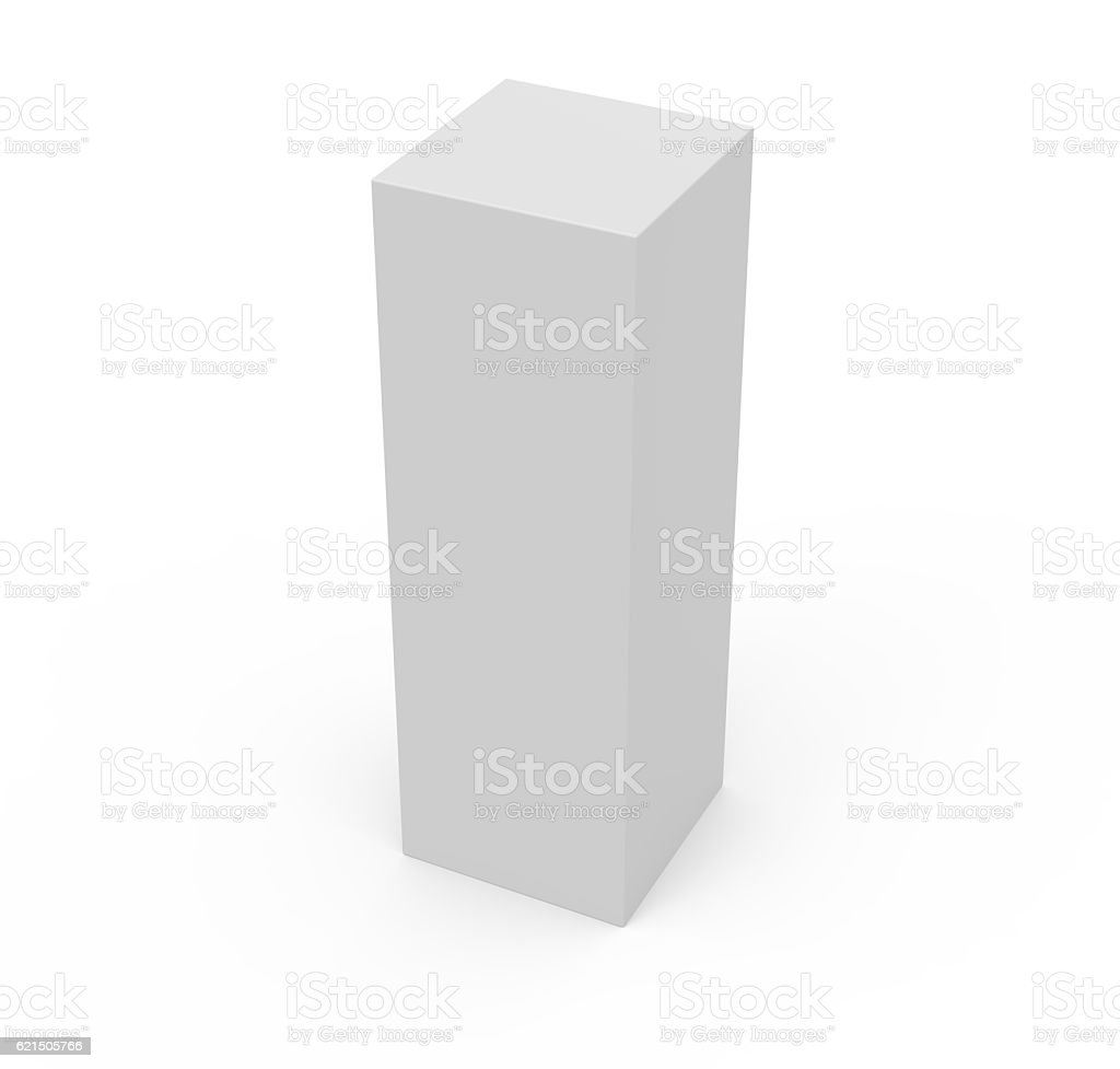 long box template box model stock photo