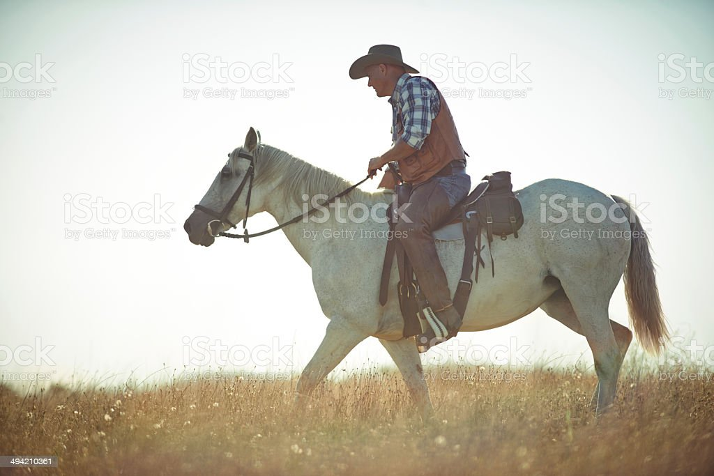 Long day's ride royalty-free stock photo