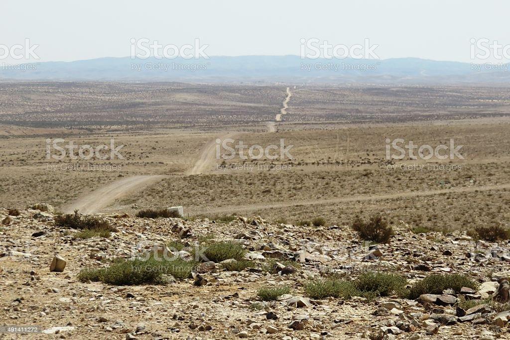 Long Desert Trail stock photo