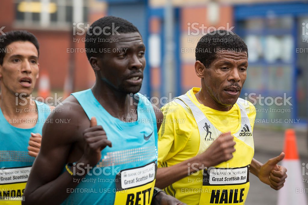 Long Distance Runners stock photo