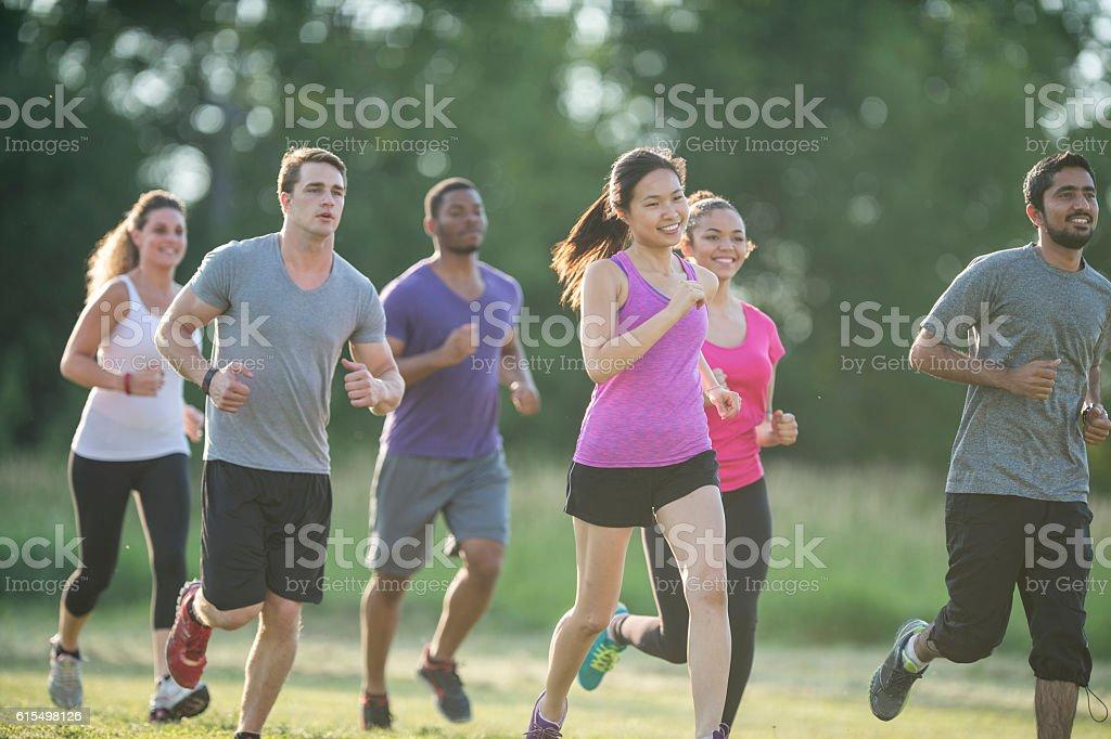 Long Distance Running stock photo