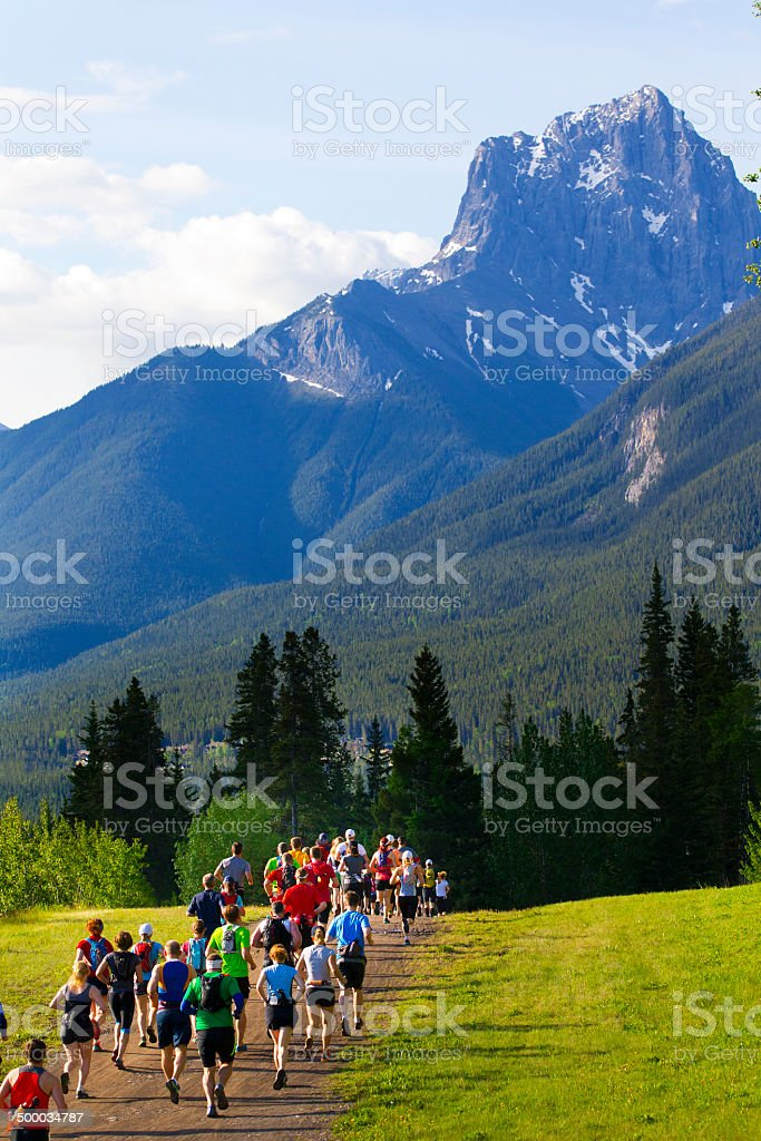 Long Distance Running Race stock photo