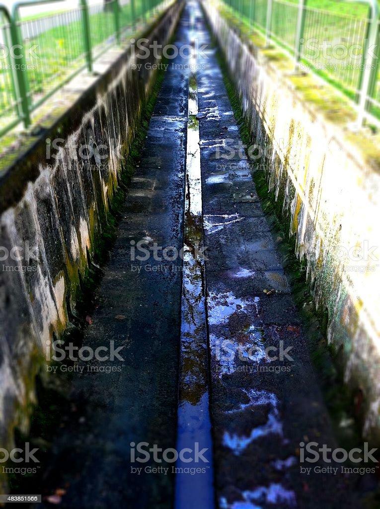 Long Drain stock photo
