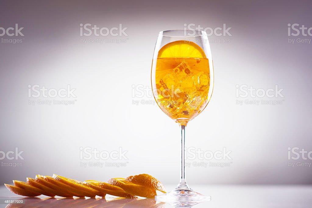 Long drink; exotic light alcoholic drink stock photo