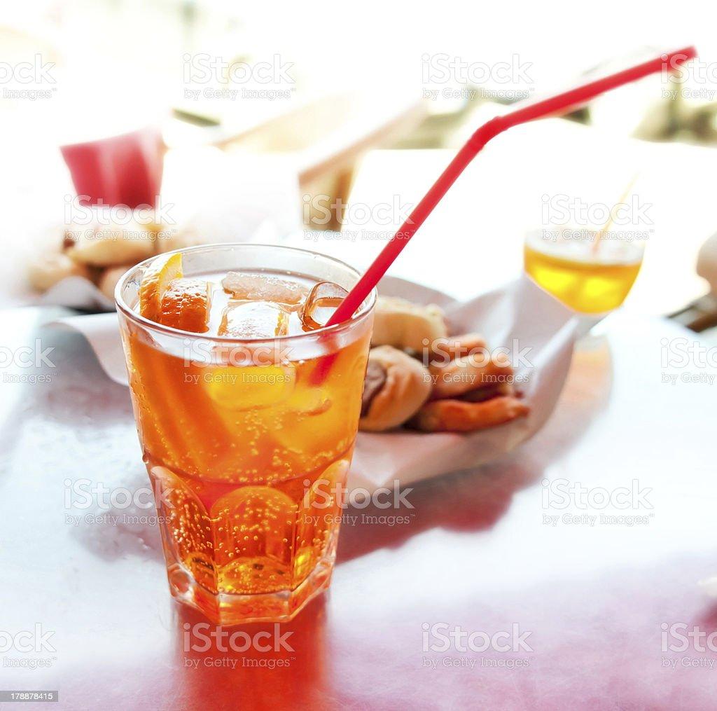 Long drink Spritz stock photo