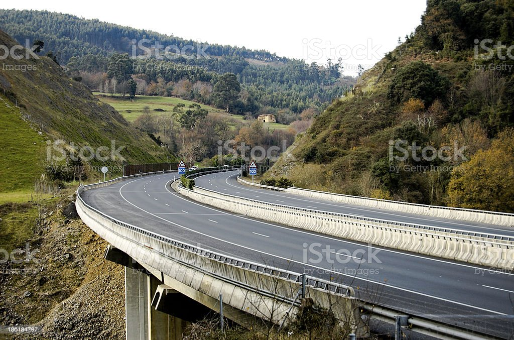 Long empty highway royalty-free stock photo