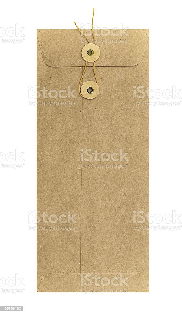 Long envelope with string fastener royalty-free stock photo