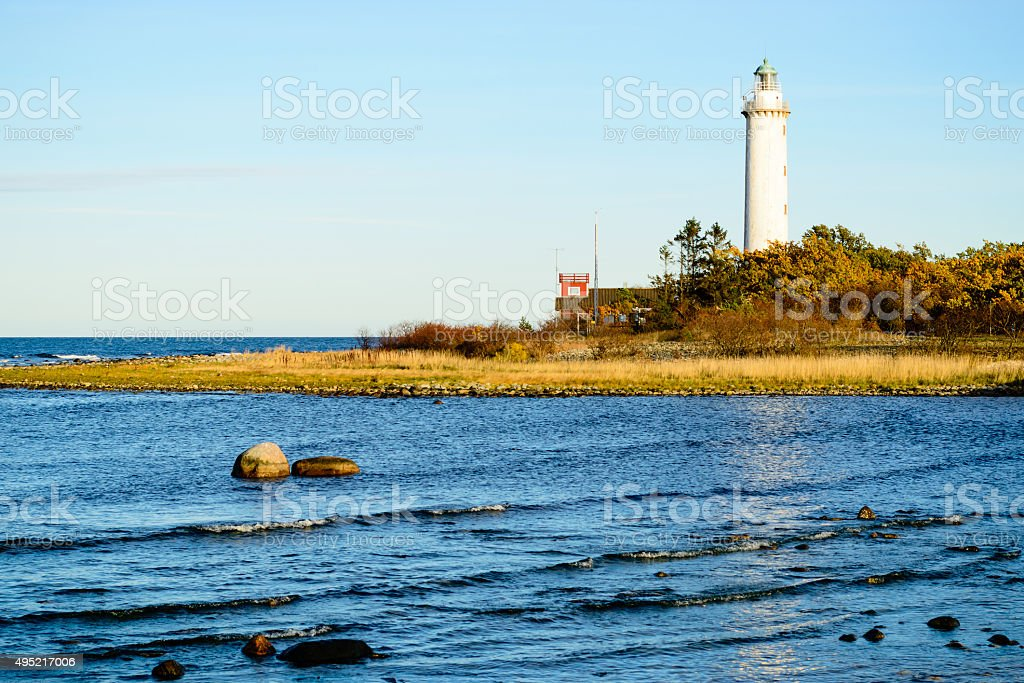Long Erik lighthouse stock photo