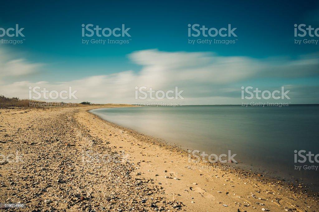 Long exposure beach stock photo