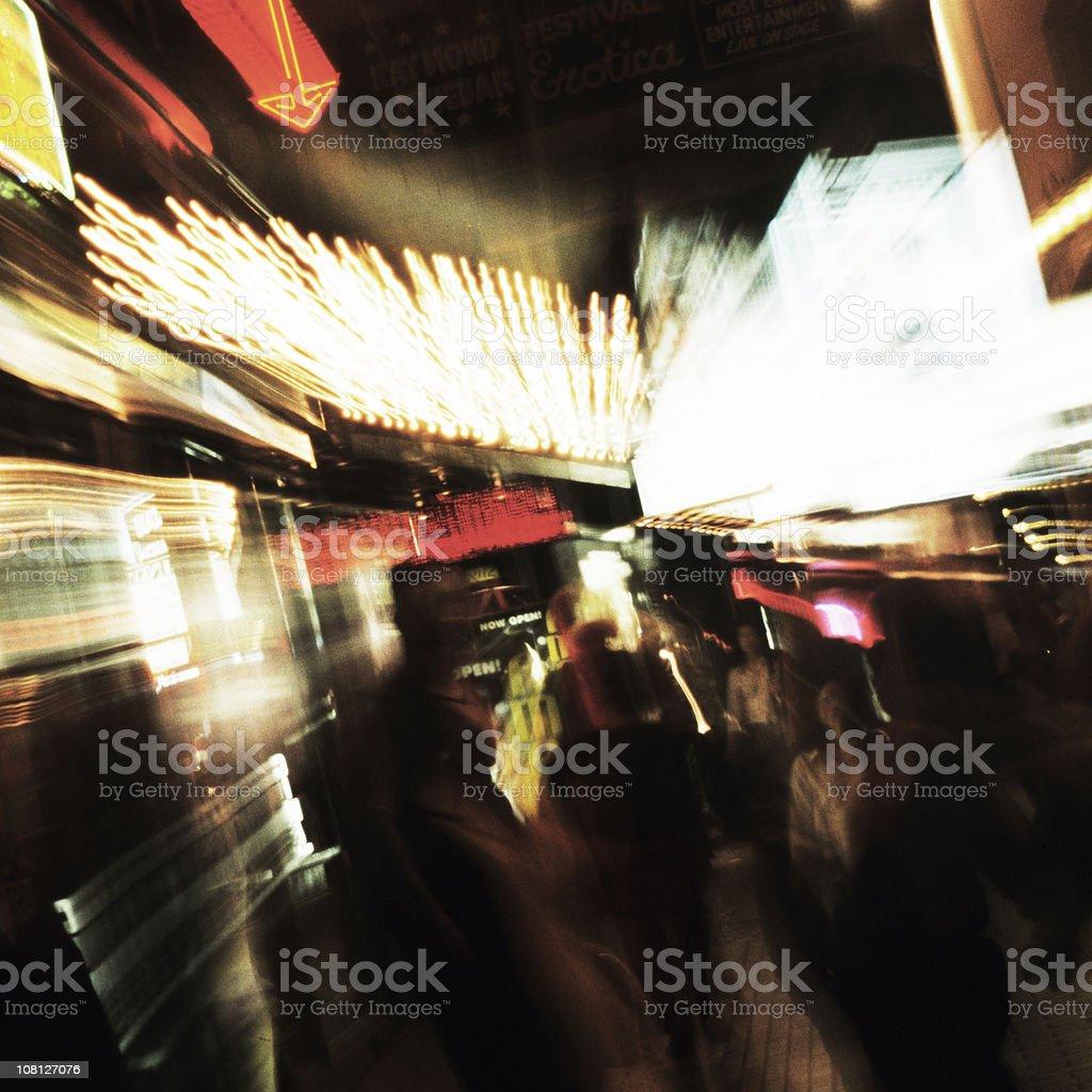 Long Exposure Blur of Soho Lights at Night royalty-free stock photo