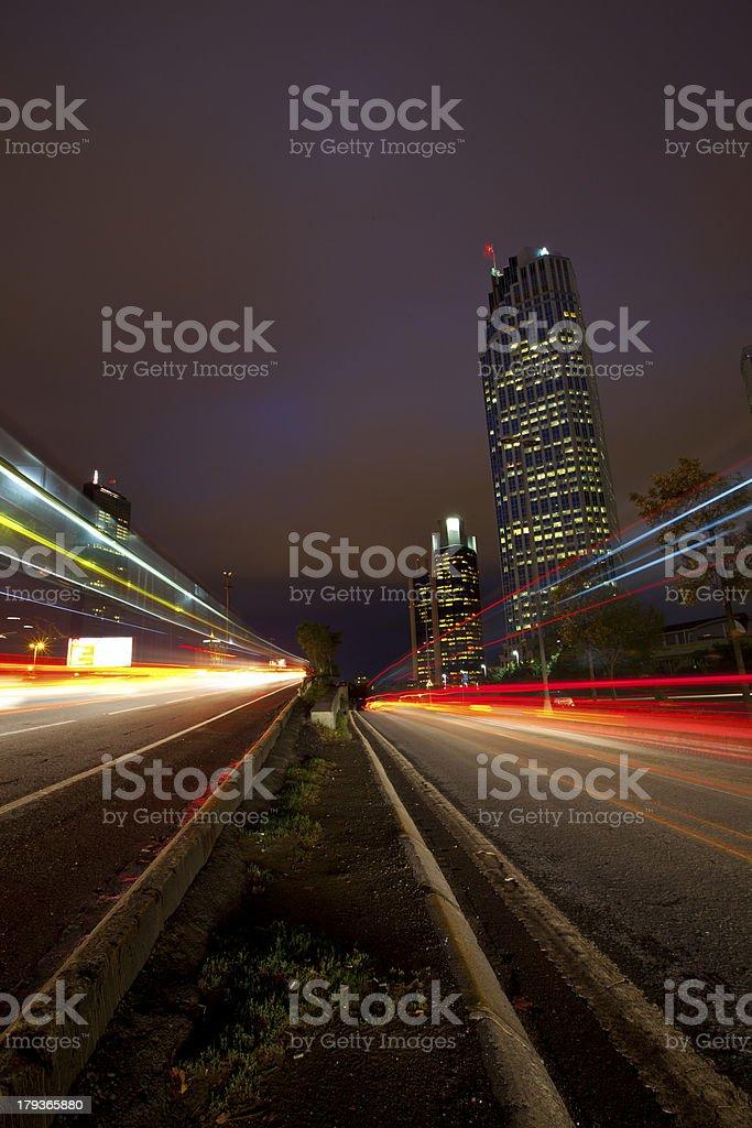 Long Exposure City royalty-free stock photo
