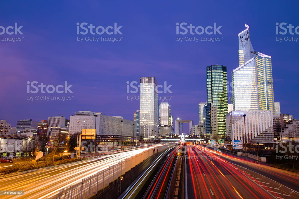 Long exposure - Financial District stock photo