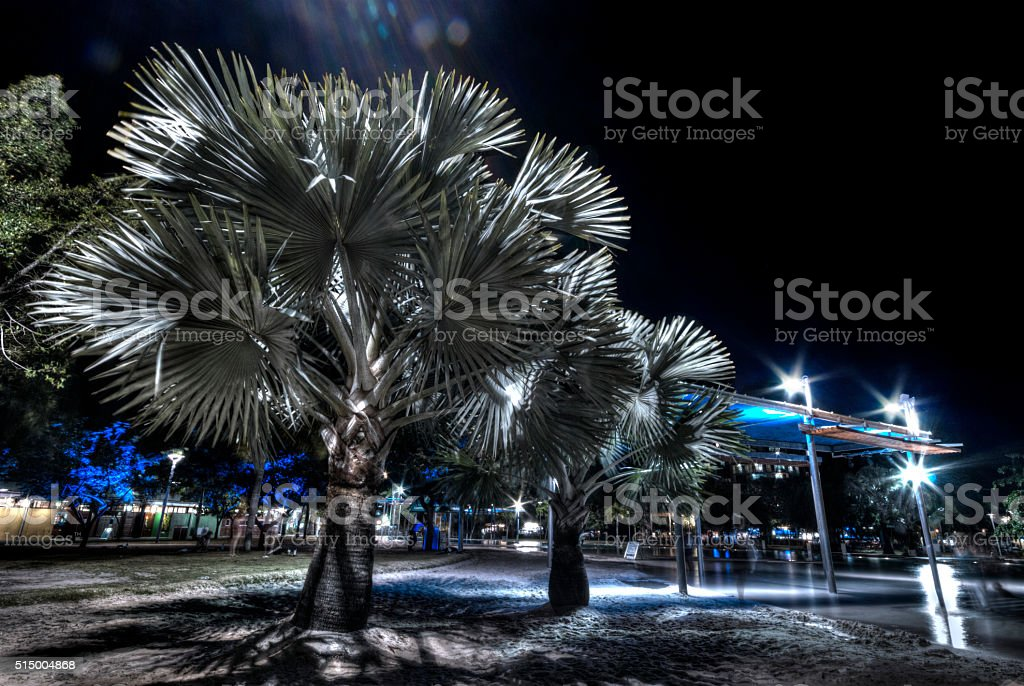 Long exposure image of Cairns Australia by night royalty-free stock photo