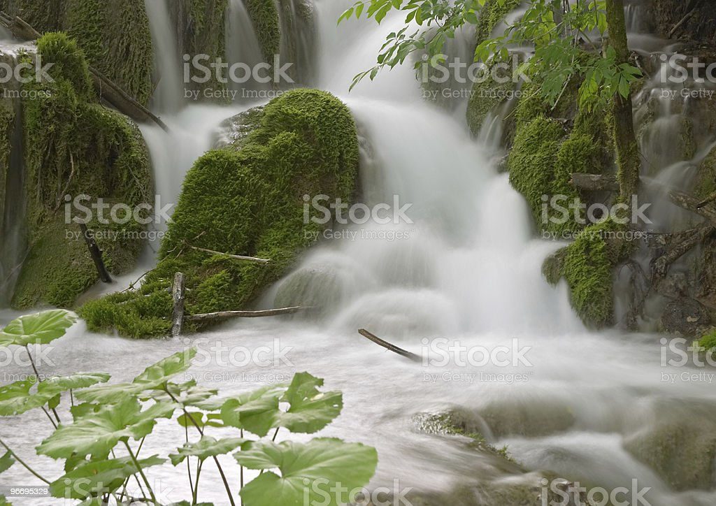 Long exposure image of waterfall royalty-free stock photo