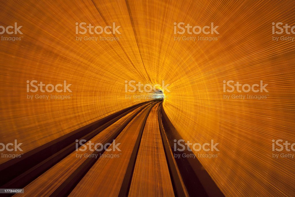 Long Exposure In Tunnel stock photo