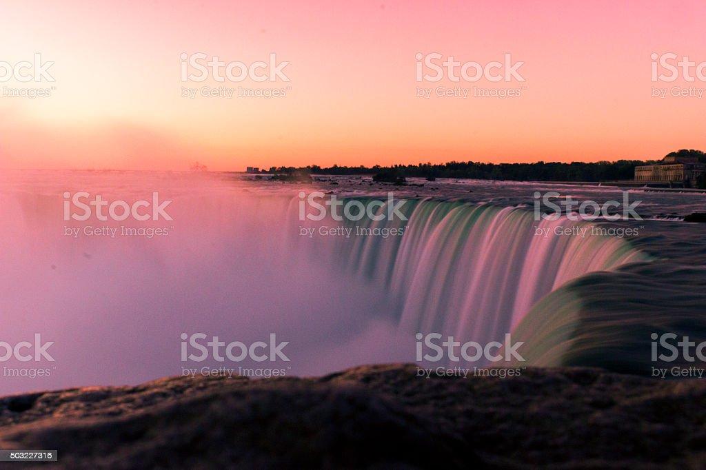 Long Exposure, Niagara Falls Canada stock photo