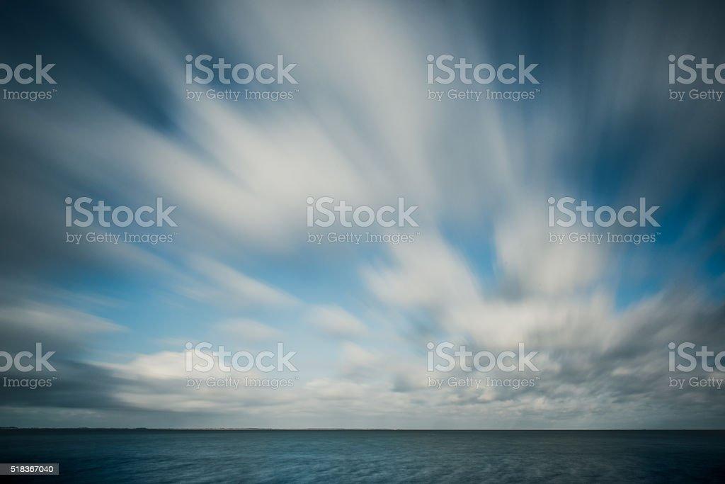 Long exposure ocean stock photo