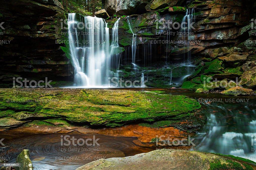 Long exposure of Elakala Falls stock photo