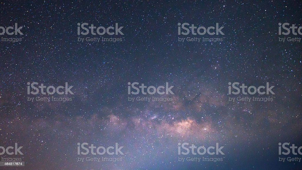 Long exposure of night sky showing the Milky Way stock photo