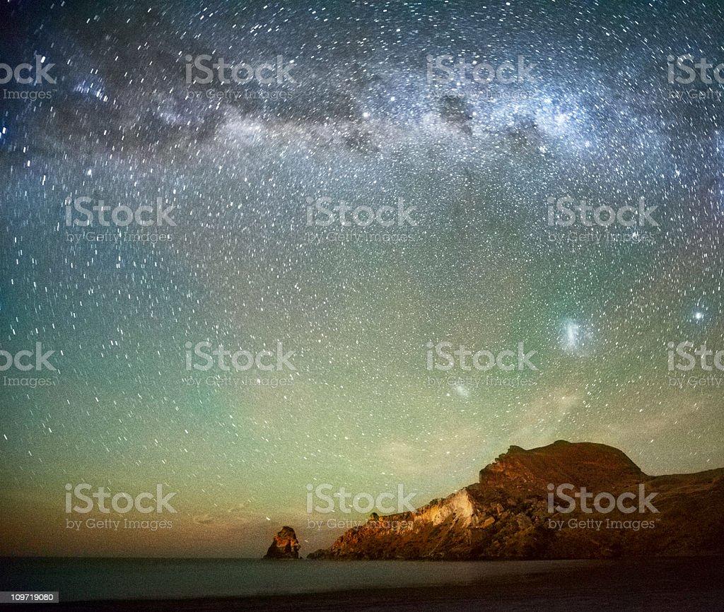 Long Exposure of Stars royalty-free stock photo