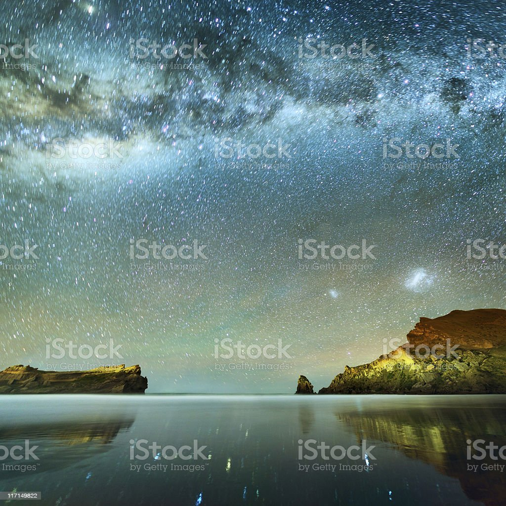 Long Exposure of Stars stock photo