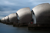 Long Exposure of Thames Barrier