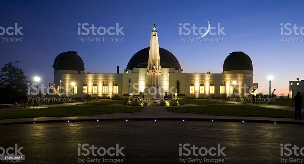 Long Exposure of the Griffith Park Observatory at Twilight stock photo