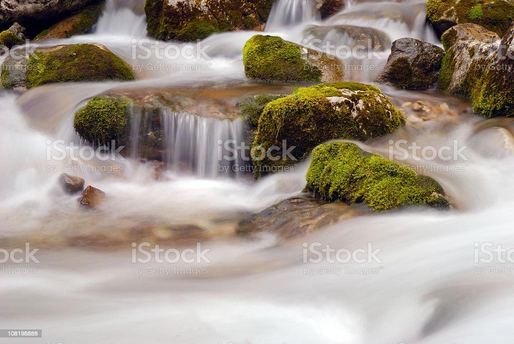 Long Exposure of Waterfall stock photo