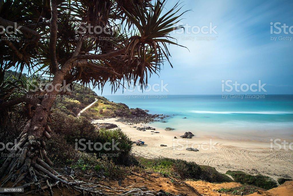 Long exposure on the beach stock photo