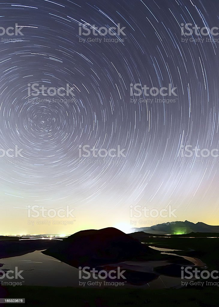Long exposure photo sky at night. royalty-free stock photo
