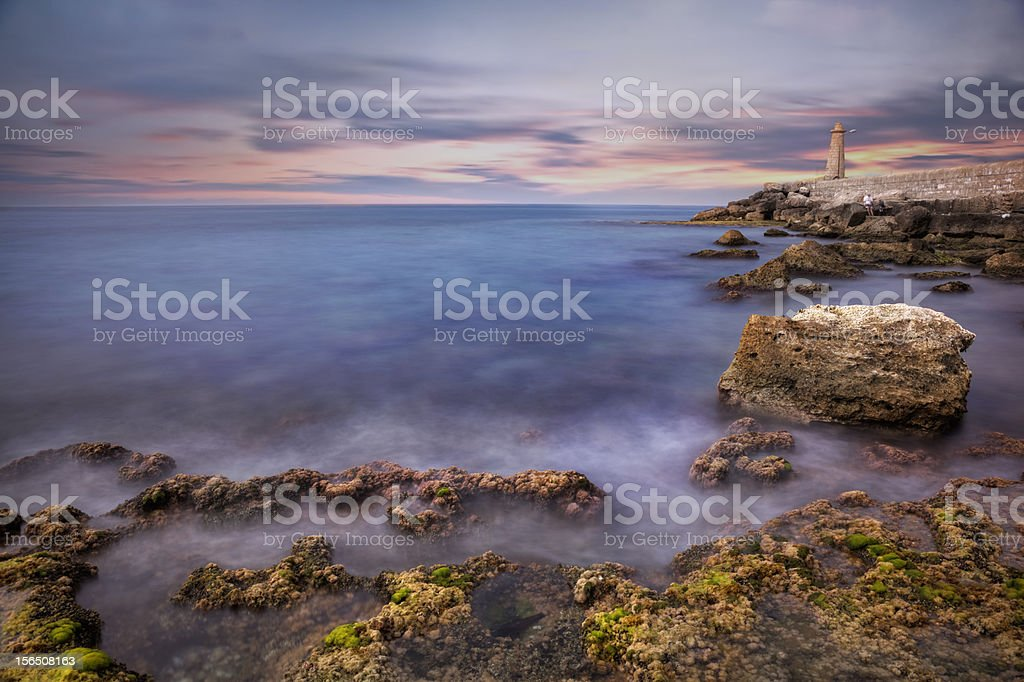 Long Exposure, Sea and lighthouse royalty-free stock photo