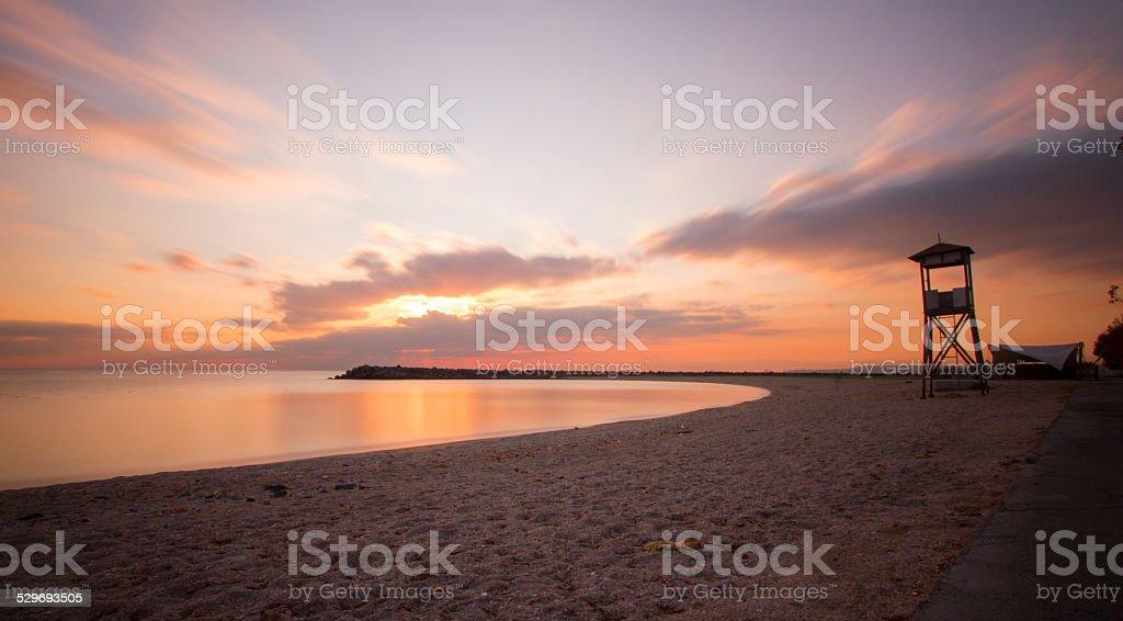 Long exposure sea stock photo