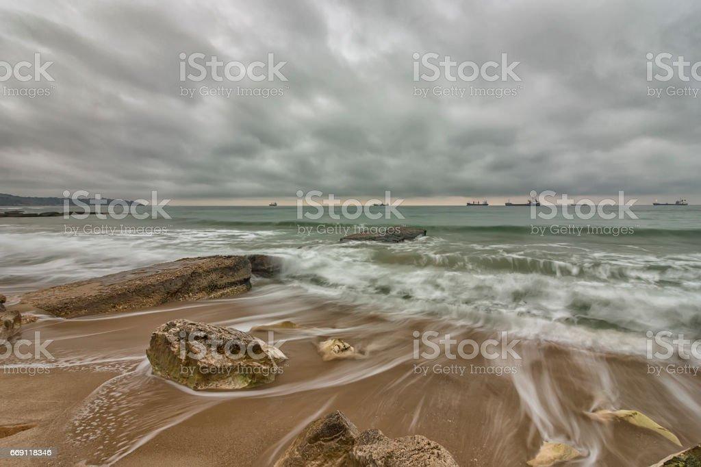 long exposure seascape stock photo