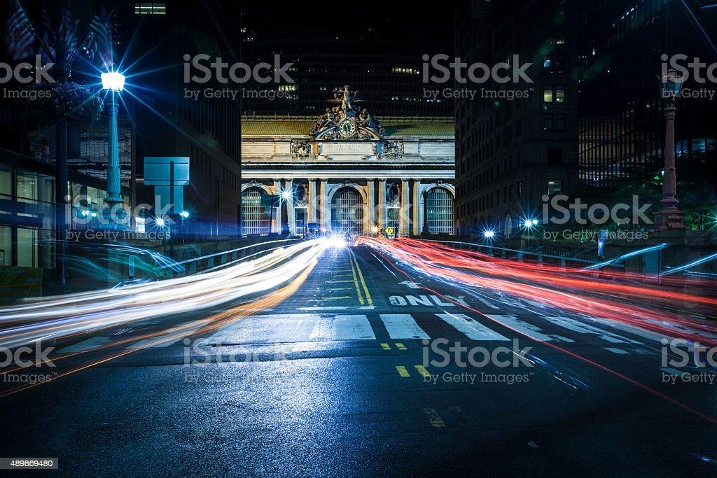 Long Exposure Shot of Grand Central Station stock photo