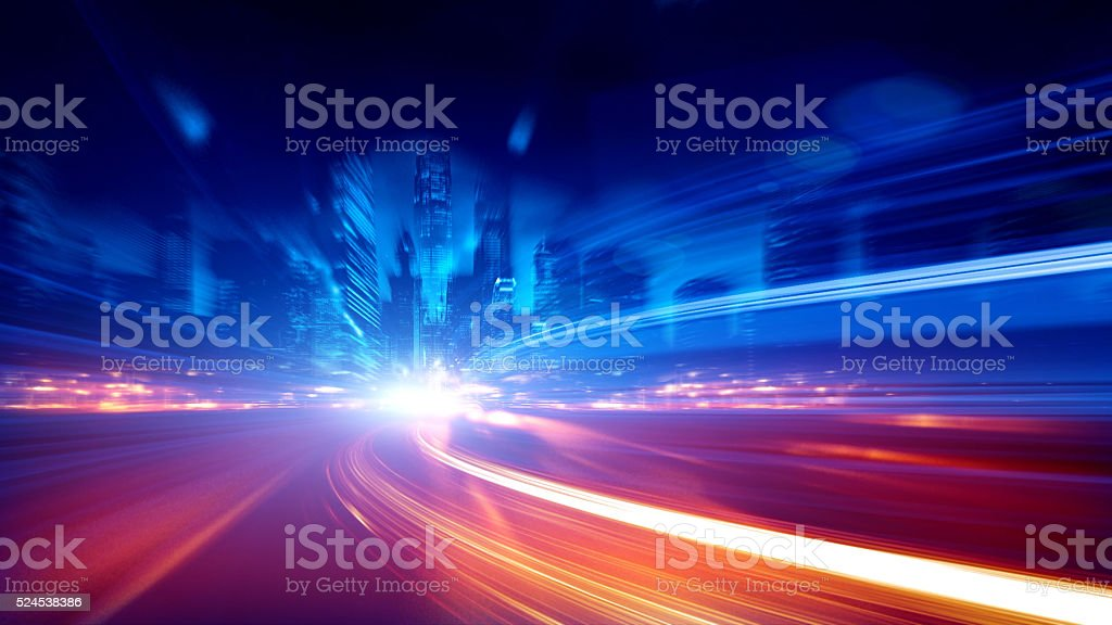 long exposure traffic stock photo