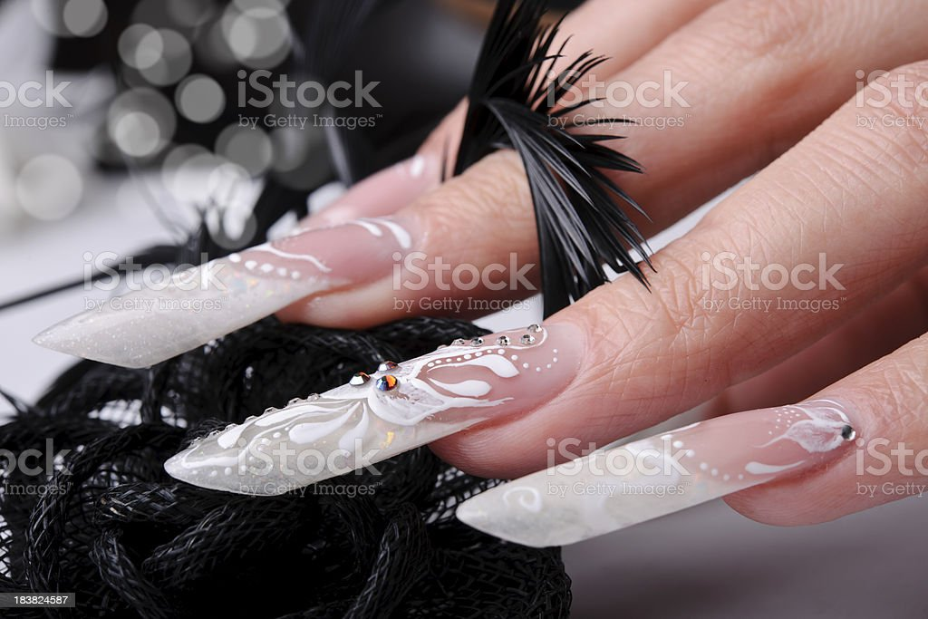 long fingernails royalty-free stock photo