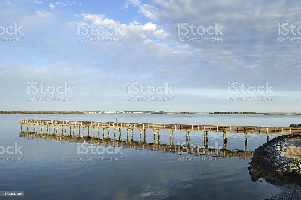 Long Fishing Dock stock photo