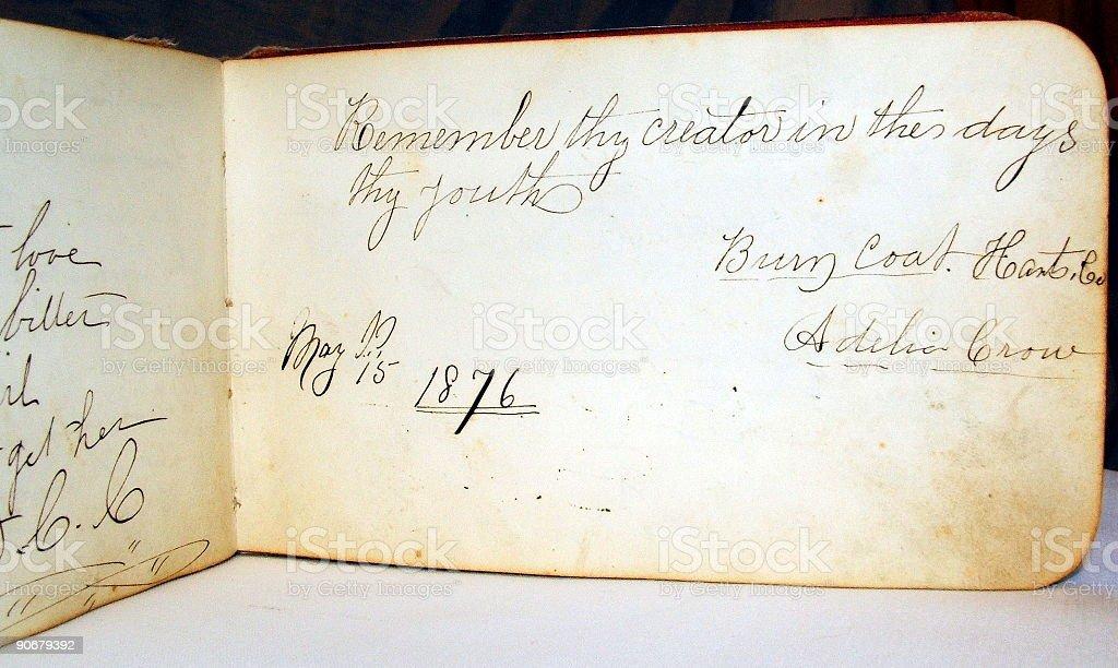 Long Forgotten Autograph royalty-free stock photo