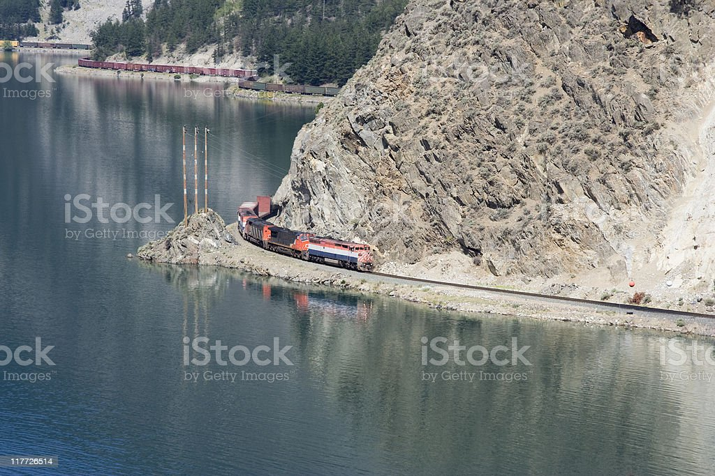 Long Freight Train stock photo