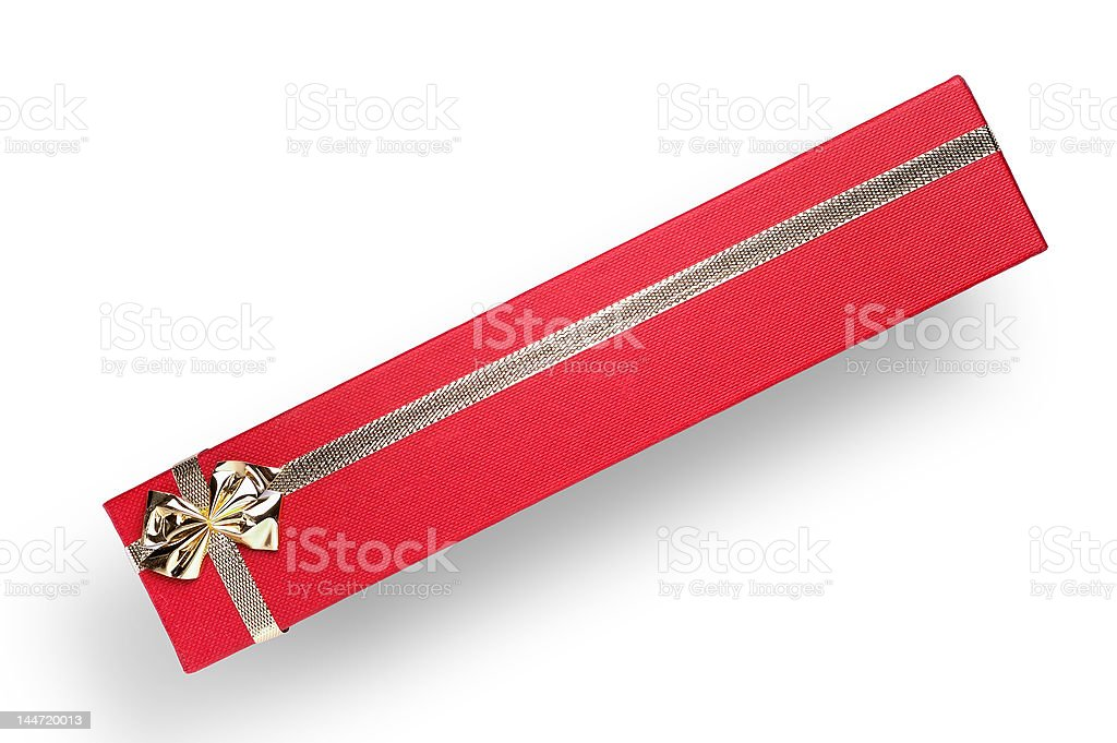 Long gift box with clipping path royalty-free stock photo