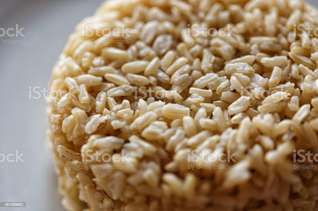 Long grain brown rice stock photo