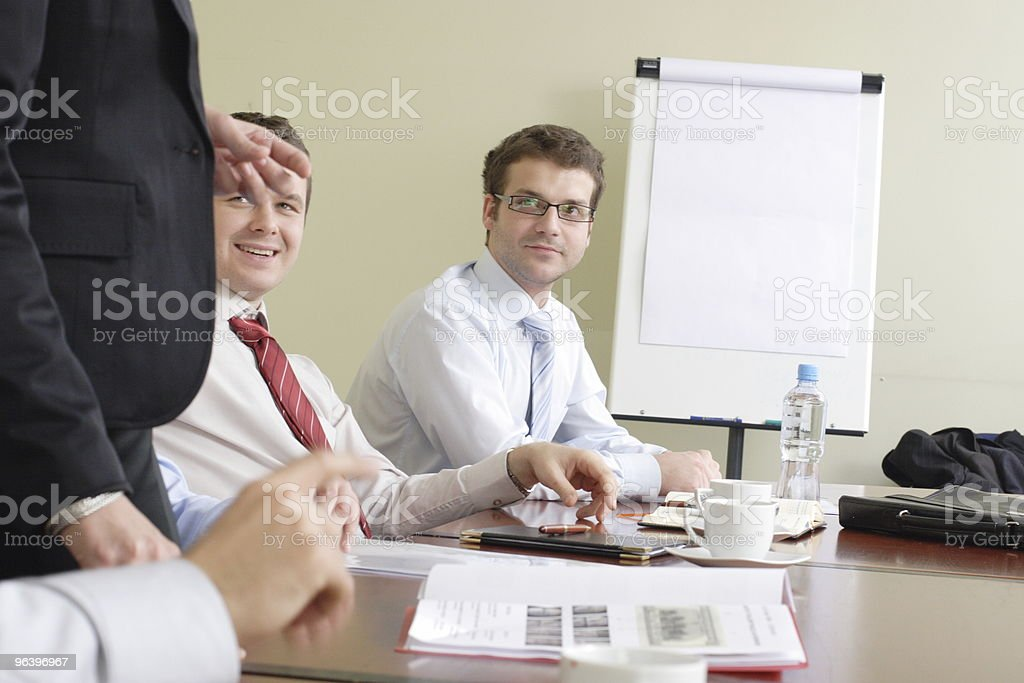Long group working hours royalty-free stock photo