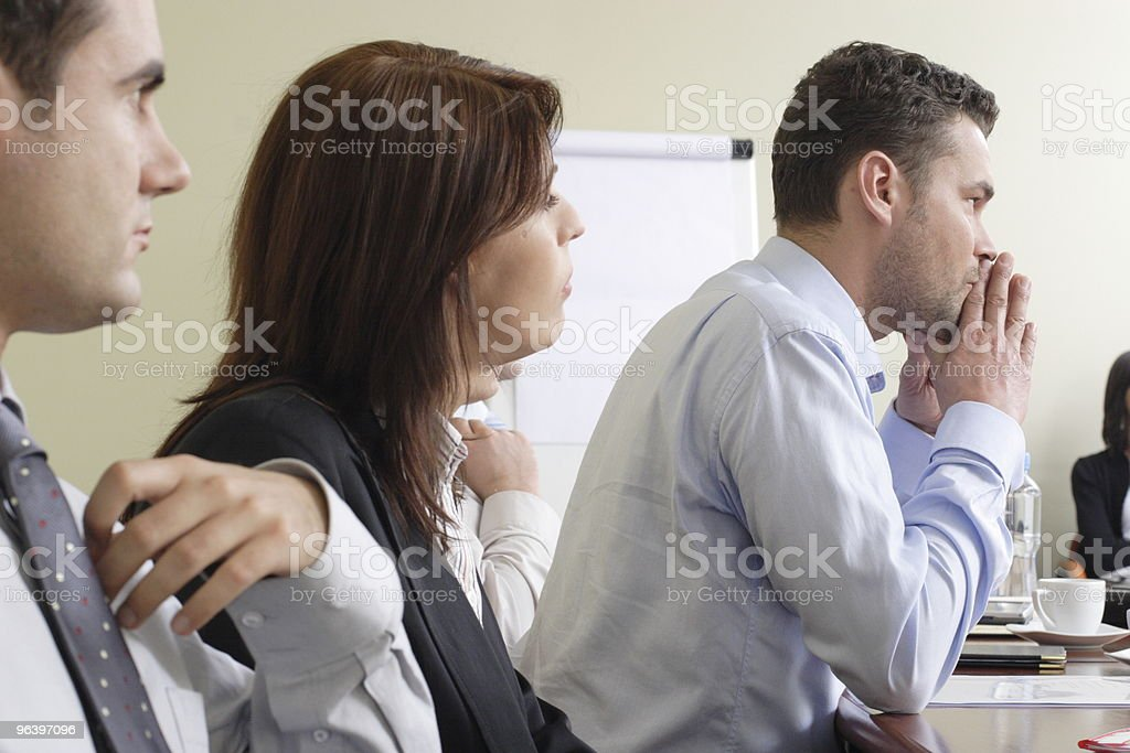 Long group working hours stock photo